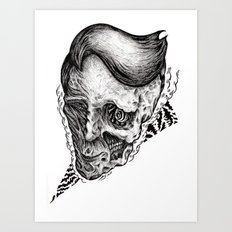 Mad guy Art Print