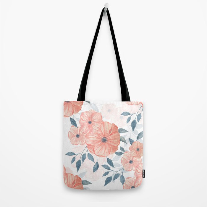 Seamless watercolor floral illustration. Tote Bag