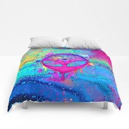 Alien Melt - pink Comforters