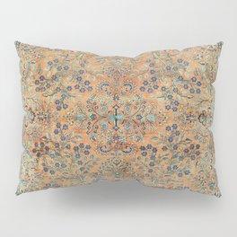 Kashan Floral Persian Carpet Print Pillow Sham
