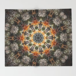 Trichomes Tangerine Throw Blanket