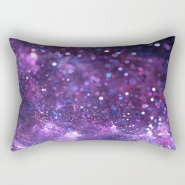 purple glitter Rectangular Pillow