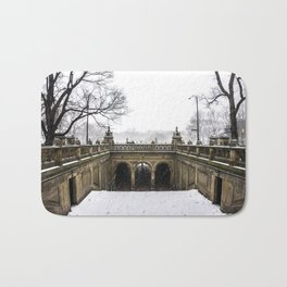 NYC Blizzard of 2015 in Central Park Bath Mat