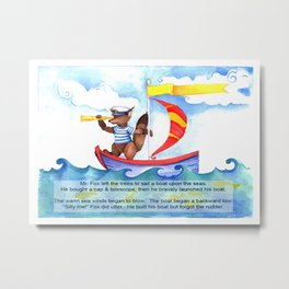 A. Fox Goes Sailing Metal Print