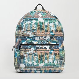 Decorative ethnic stripes and petals Backpack