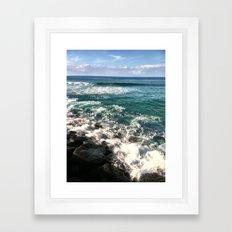 BLUE SEAS Framed Art Print