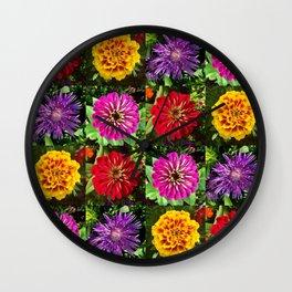 Summer Bouquet 3 Wall Clock