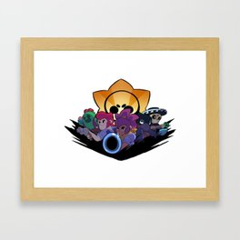 Spike, Colt, Shelly, Crow and Poco design | Brawl Stars Framed Art Print