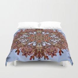 Autumn oak and pine kaleidoscope Duvet Cover