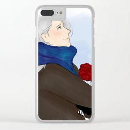 victor with roses - yuri on ice Clear iPhone Case