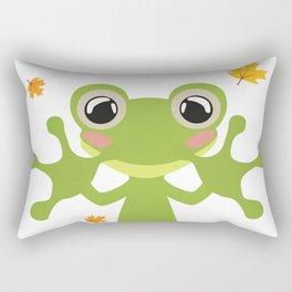 Little Frog Happy Autunm - Fall Begins Rectangular Pillow