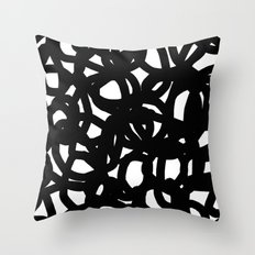 Freestyle in black Throw Pillow