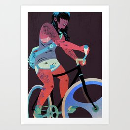 Bicycles & Tattoos (4) Art Print