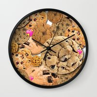 cookies Wall Clocks featuring Cookies by jajoão