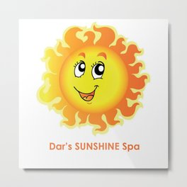 Dar's SUNSHINE Spa Metal Print