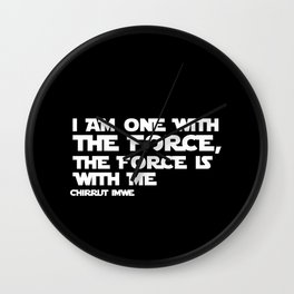 the force is with me Wall Clock