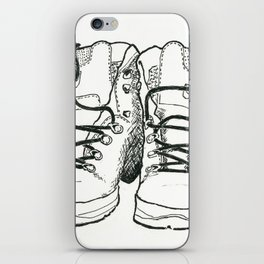 Walking Boots iPhone Skin