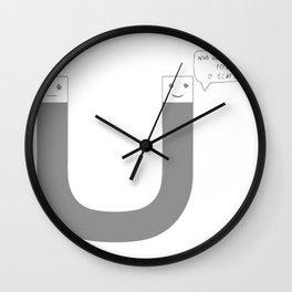 Negative Magnet Wall Clock
