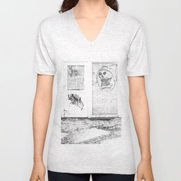 Death's newspaper booth Unisex V-Neck