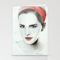 emma watson Stationery Cards featuring Emma Watson by Simona Borstnar