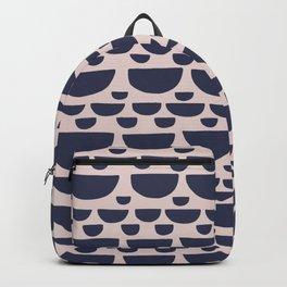 Half moon horizontal geometric print - Navy Backpack