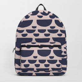 Half moon horizontal geometric print - Navy Backpack