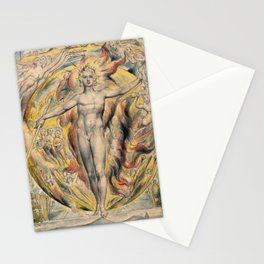 William Blake - The Sun At His Eastern Gate Stationery Cards