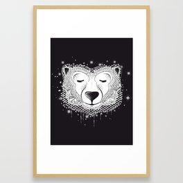 Dreaming Polar Bear Framed Art Print