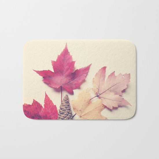 Red Maple Leaf Collection Bath Mat