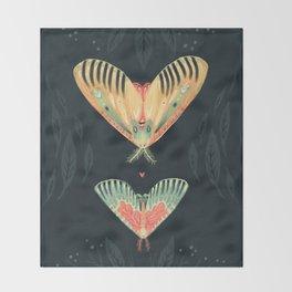 Moth Wings I Throw Blanket