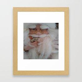 Up close with Santa Framed Art Print