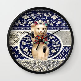 Maneki Neko (Lucky Cat) I Wall Clock