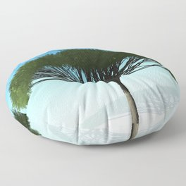 Tree and Blue Sky Floor Pillow