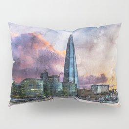 london-river-thames-city-england Pillow Sham