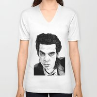 "nick cave V-neck T-shirts featuring ""Nick Cave"" by Jocke Hegsund"