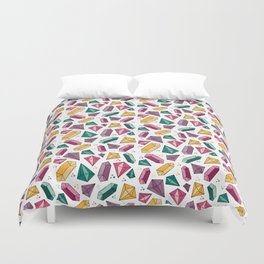 Diamonds (and Crystals) are a Girl's Best Friend Duvet Cover