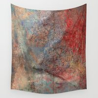 mythology Wall Tapestries featuring Chimalma by Fernando Vieira