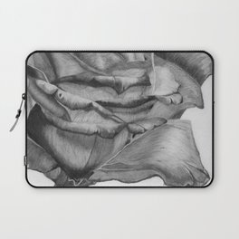 OPEN UP IN BLACK & WHITE Laptop Sleeve