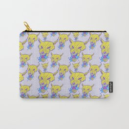 Neon Wolf Pattern Carry-All Pouch