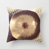 beth hoeckel Throw Pillows featuring Dandelion II by Beth Ann Short by Beth Ann Short