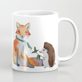 Fox and Hedgehog Have a Picnic Coffee Mug