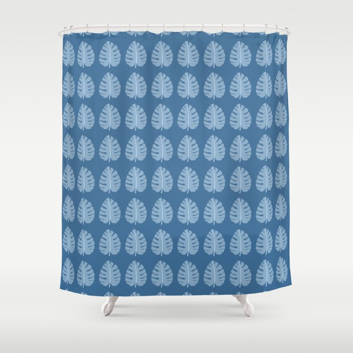 Ocean Beach Theme Palm Leaf Tropical Print Shower Curtain By 19monkeys