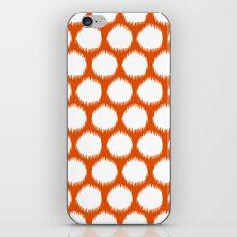 Persimmon Asian Moods Ikat Dots iPhone Skin