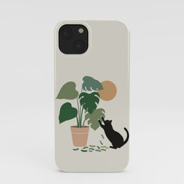 Cat and Plant 13: The Making of Monstera iPhone Case