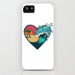 Wave Heart iPhone Case