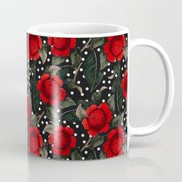 Red flowers on moles Coffee Mug