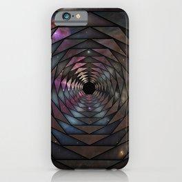 Heptagon space portal iPhone Case
