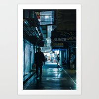 Alone in Akihabara Art Print