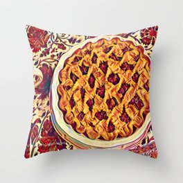 Coffee & Cherry Pie, Food For Thought Throw Pillow
