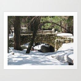 Bridalveil Fall Stone Bridge Art Print